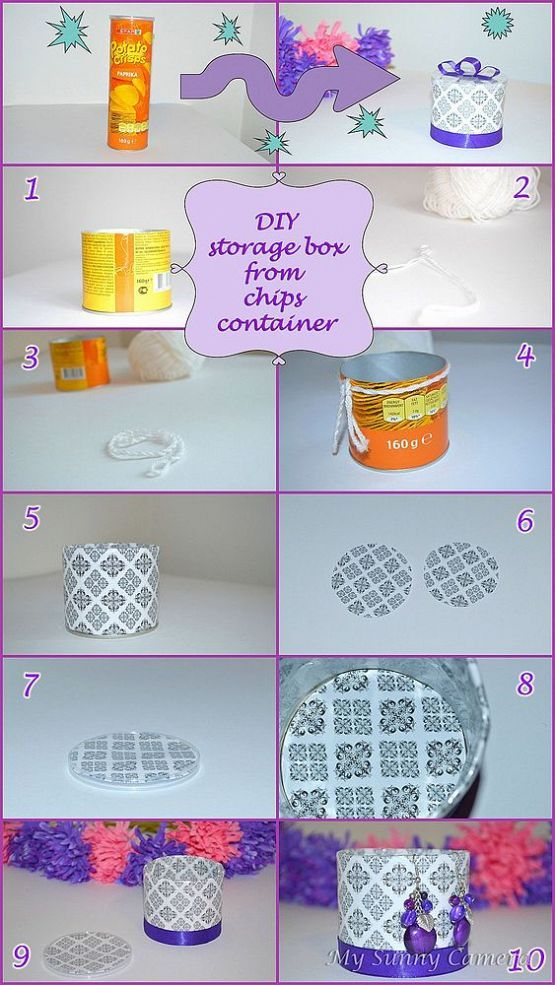 ~Make a cute gift box out of a pringles container~