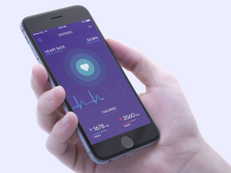 Health Tracker In iPhone Mockup