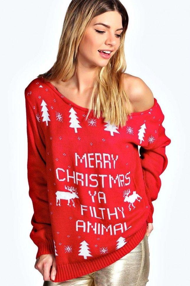 Womens Naughty Christmas Sweaters