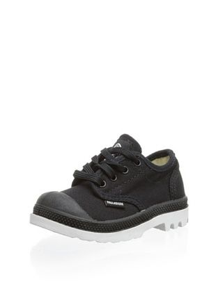 74% OFF Palladium Kid's Pampa Sport Canvas Oxford (Black/White)