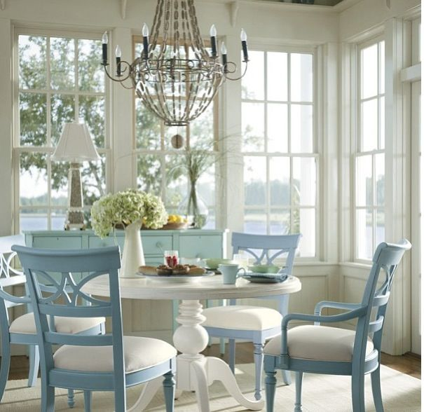 """The dining room version of """"Girls in white dresses with blue satin sashes."""""""