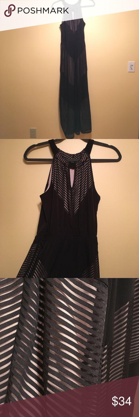 Chevron black and tan Apt. 9 maxi dress! Chevron black and tan Apt. 9 maxi dress! Fully lined worn once. Incredibly flattering. Apt. 9 Dresses Maxi