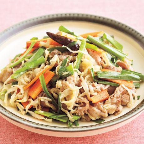 豚肉と切り干し大根の中華炒め