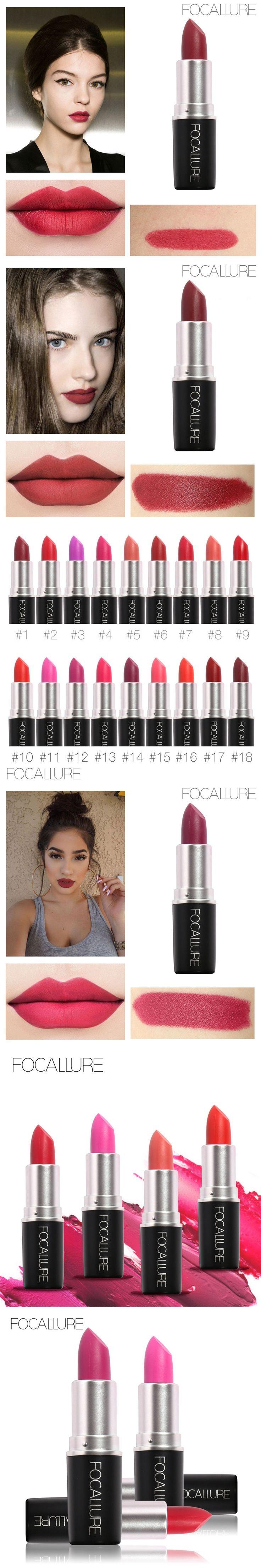 FOCALLURE 18 Colors Matte Lipstick Long Lasting Korean Lips Makeup Waterproof Lip stick Nude Lip Cosmetics  Lipgloss Brand