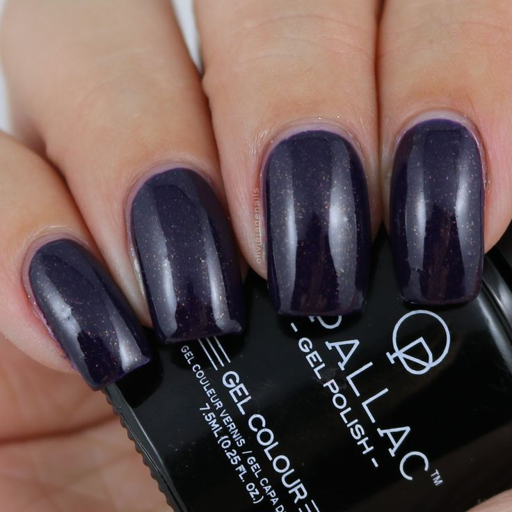 Opallac Gel Polish Violet Spark swatched by Olivia Jade Nails