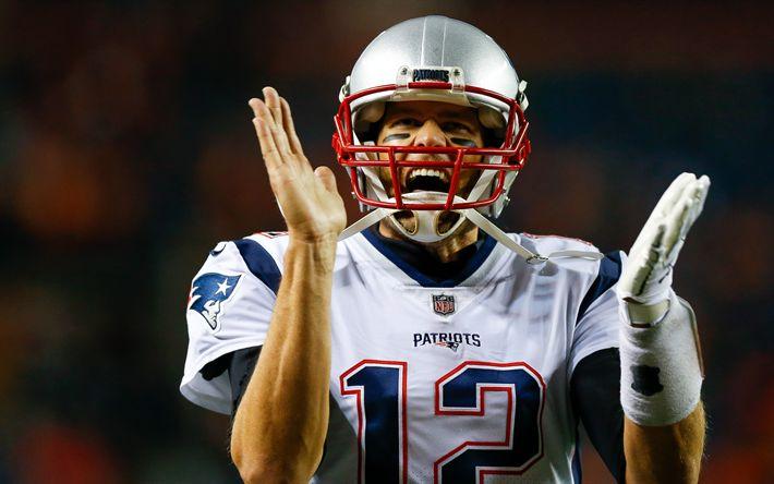 Download wallpapers 4k, Tom Brady, NFL, quarterback