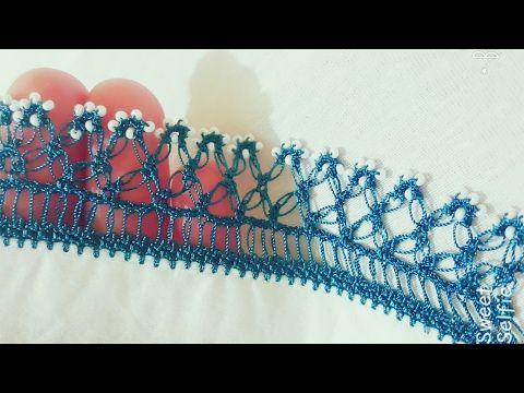 Örümcekli Kum Boncuklu  Tığ Oyası Yapımı - YouTube