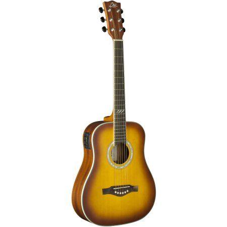 EKO Guitars TRI Series Mini Dreadnought Acoustic/Electric Guitar, Brown
