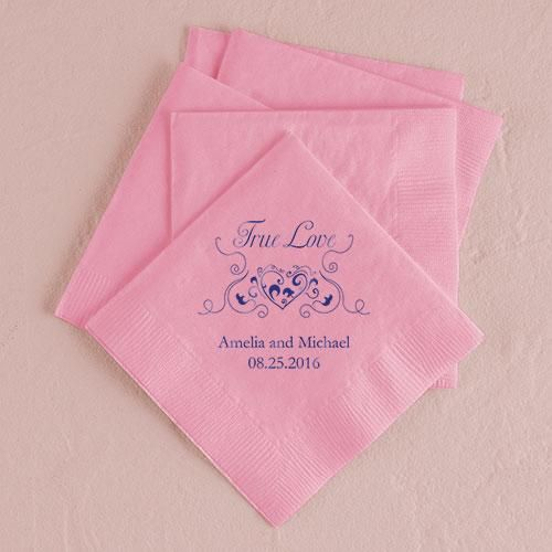 48 best personalized wedding napkins images on pinterest for Printed wedding napkins