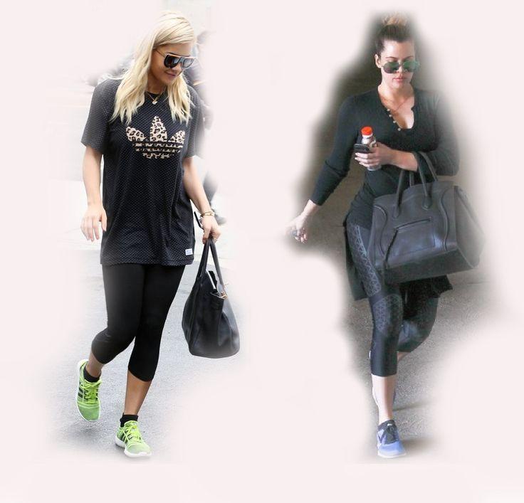 gym outfit, Rita Ora VS Khloe Kardashian Odom fashion diva who-wore-it-better celeb celebrity