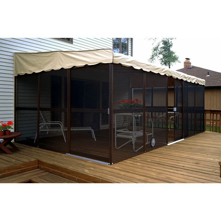 "$1249. BJs online. Patio-Mate Chestnut 19'3""l x 11'6""w Screened Enclosure"