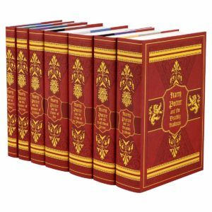 For the past four years, Juniper Books has offered fans the opportunity to own a beautiful hardcover set of Harry Potter books wrapped in house-themed jackets and packed in a Hogwarts traveling trunk. We are now introducing revised book jacket designs that truly illuminate the colors and symbols of each of the four houses – Gryffindor, Ravenclaw, Hufflepuff, and Slytherin.