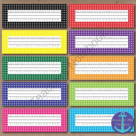 FREE 40 Polka Dot Borders, Labels & Name Tags from Anchor Me Designs on TeachersNotebook.com -  (80 pages)  - FREE 40 Polka Dot Borders, Labels & Name Tags