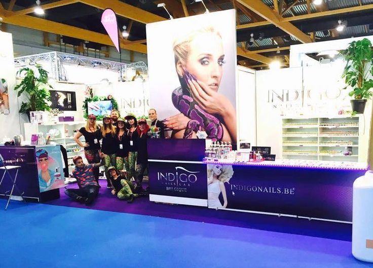 Indigo Team Belgium /Estetika Nails Trade - Lastitia Leone & Indigo Belgium Team - we love you guys!  :) Find more inspiration at www.indigo-nails.com #nailart #nails #indigo #belgium #Estetika