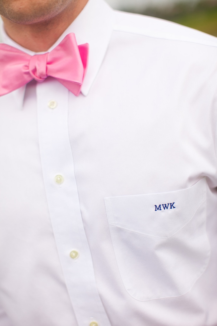 516 best hot pink wedding images on pinterest for Initials on dress shirts