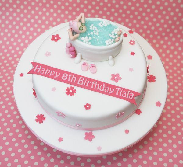 Best Spa Day Cake Images On Pinterest Spa Cake Birthday - Spa birthday party cake