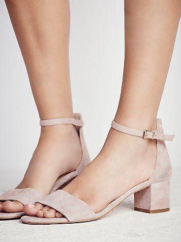 Marigold Block Heel. Love the low chunky heel and color