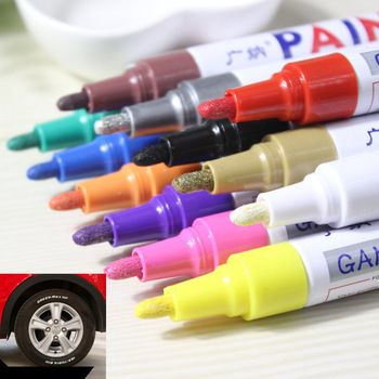 colorful Waterproof pen Car Tyre Tire Tread CD Metal Permanent Paint markers Graffiti Oily Marker Pen marcador caneta stationery  Price: 0.86 USD
