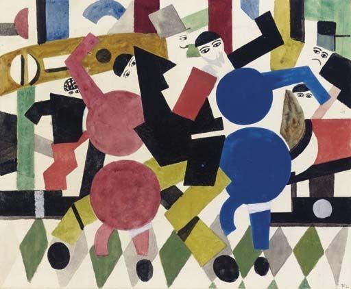 Fernand Léger, Etude pour le rideau du ballet Les Patineurs