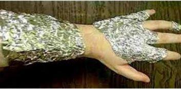 Dolori articolari curati con la carta stagnola