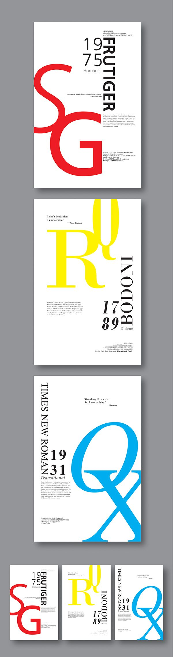 Poster design editor - Typeface Posters Frutiger Bodoni And Times Roman On Behance