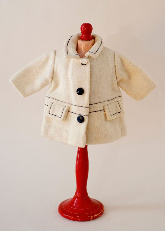 Authentic+Antique+40s/50s+Bleuette+doll+3/4+Length+Wool+by+mdvanii,+$100.00