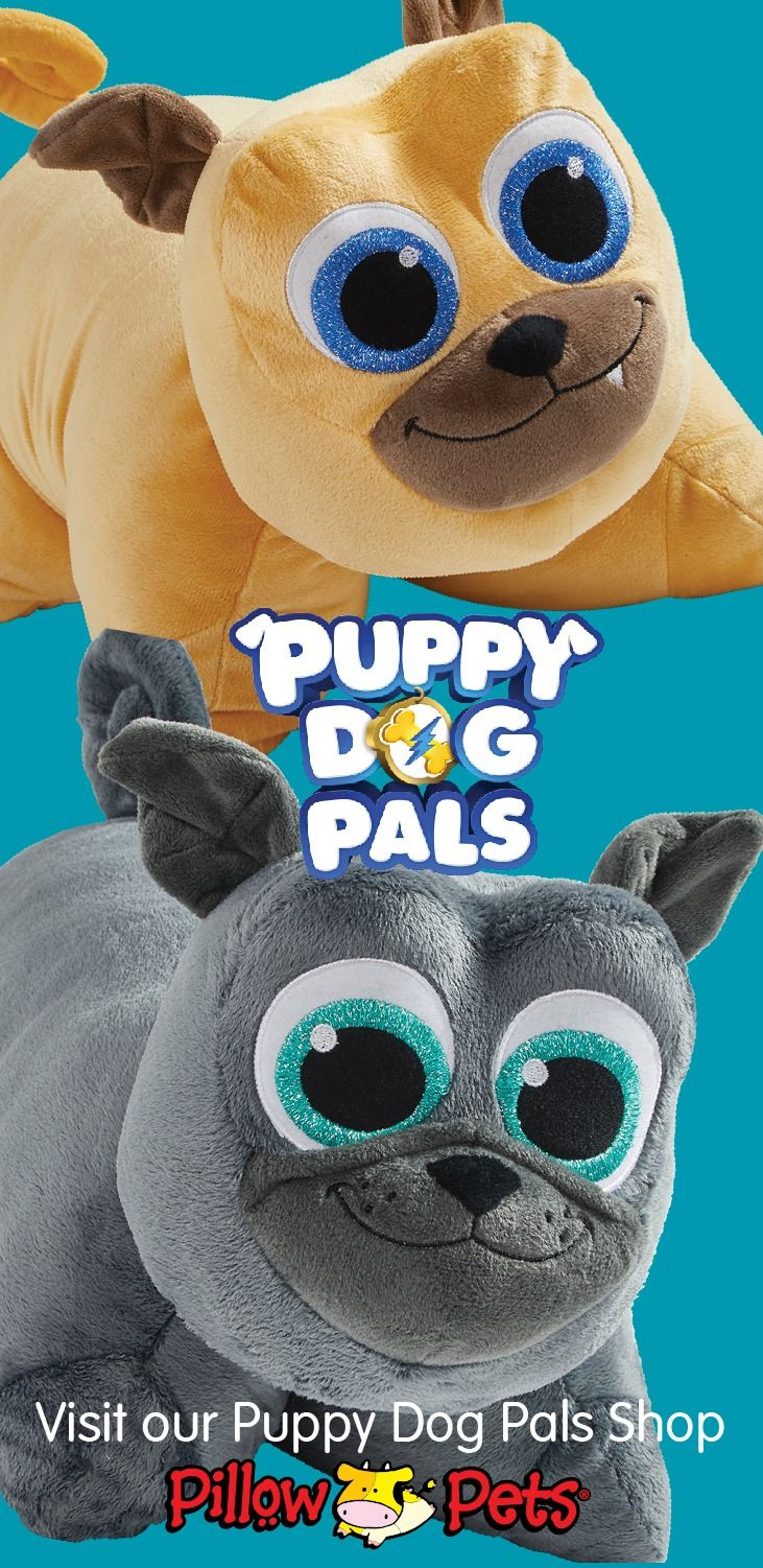 Disney S Puppy Dog Pal Pillow Pets Bingo And Rolly Are Ready For Adventure On All Missions Big Or Far Bi Animal Pillows Disney Princess Palace Pets Pet Magic