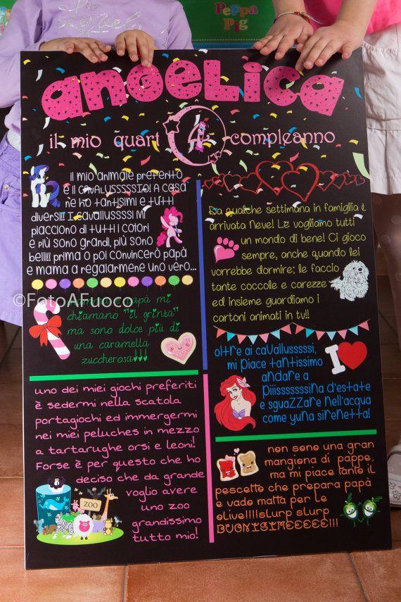 Lavagnetta decorativa-commemorativa-celebrativa PERSONALIZZATA. Crea il tuo biglietto di auguri,tableau,metro,articolo da regalo ORIGINALE!