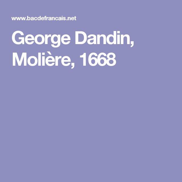 George Dandin, Molière, 1668