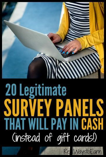 Would you rather receive cash instead of gift cards for taking paid surveys online? If so, this list will help. There are 20 legitimate panels here, ALL of which will pay you in either Paypal cash or a mailed check for the time you spend answering surveys.
