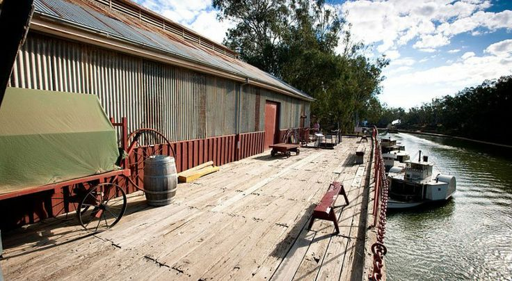 The port of Echuca, an integral part of Victoria's heritage.