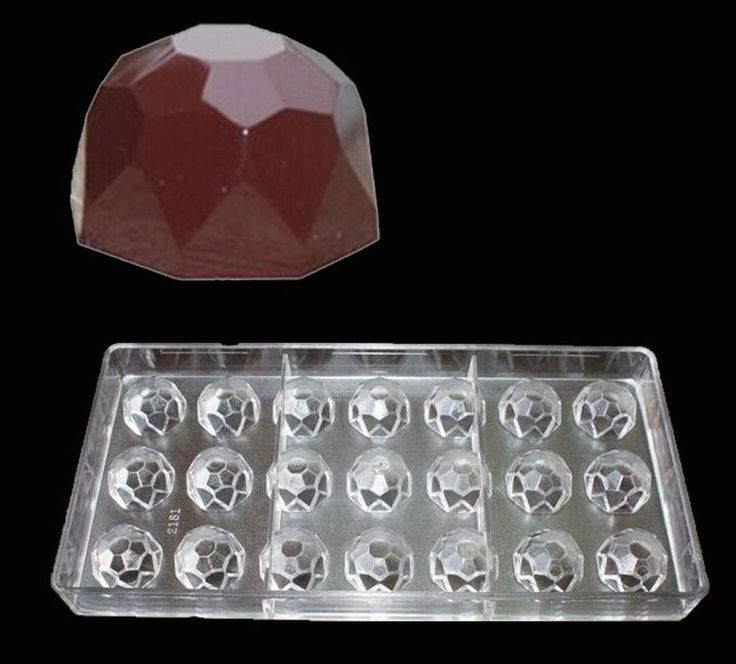1 x Polycarbonate Mould Gem Diamond for Chocolate Candy Jelly Hard Plastic Mold