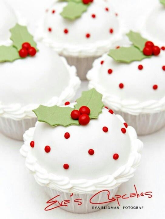 Christmas Cupcakes......mooi, maar niet naar Nederlandse smaken