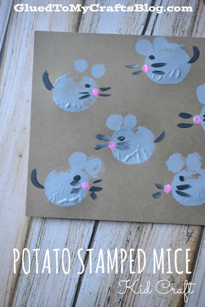 Potato Stamped Mice {Kid Craft}                                                                                                                                                      Mehr