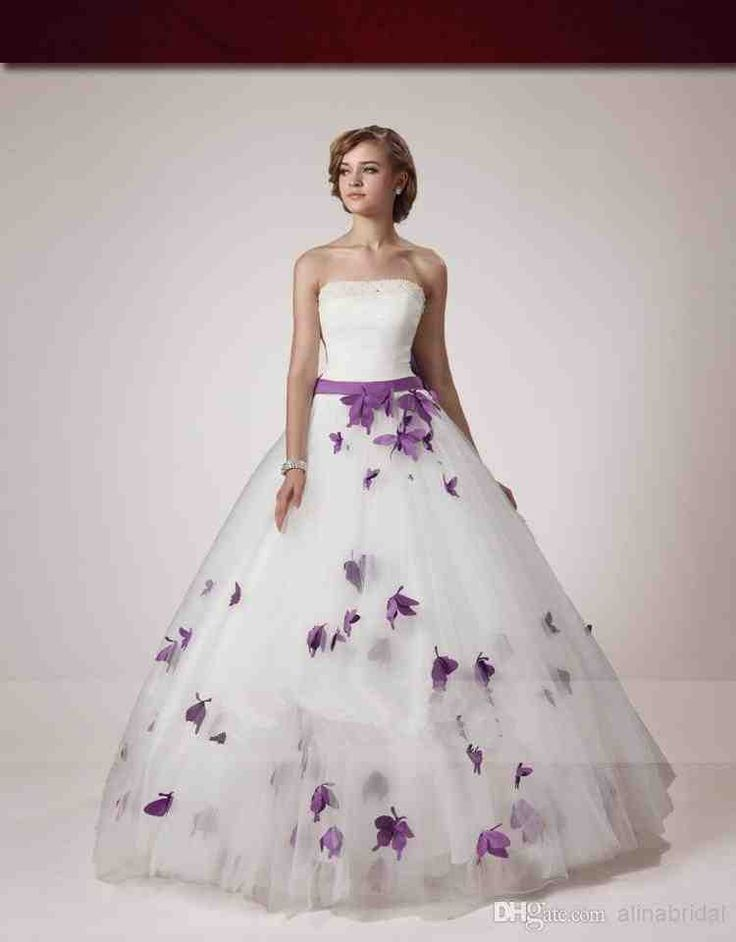 41 best Purple Wedding Dress images on Pinterest | Wedding frocks ...