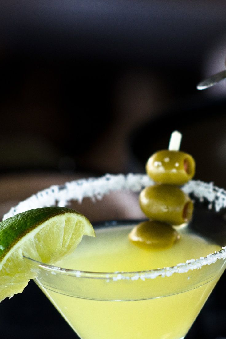 Originally the Mexican Martini was just a large margarita in Austin, Tex But the presentation calls for the margarita to be served in a martini glass, with olives on a spear Because it is about twice as large as a regular drink, customers are usually given the cocktail shaker and invited to pour it themselves.