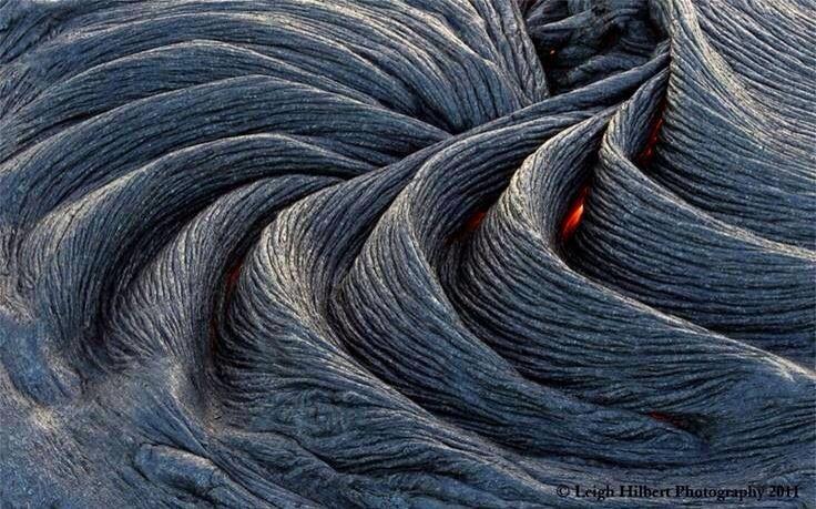 Formación de lava! Hawai.