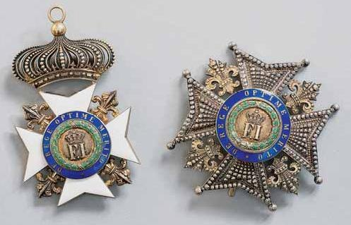 Italy, Two Sicilies Order of Francis I Grand Cross set
