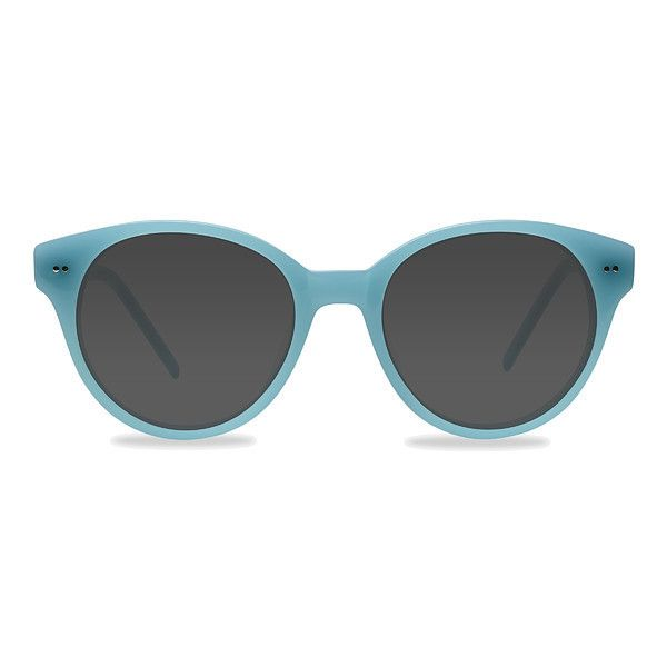 Women's Angie - Blue round - 16945 Rx Sunglasses ($42) ❤ liked on Polyvore featuring accessories, eyewear, sunglasses, round glasses, round eyewear, rounded glasses, studded sunglasses and rounded sunglasses
