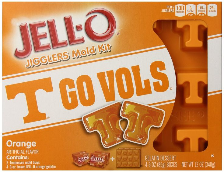 University of tennessee big orange jello jigglers mold kit add some
