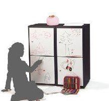 armadietto per la cameretta dei bambini con ante scrivibili e cancellabili ...