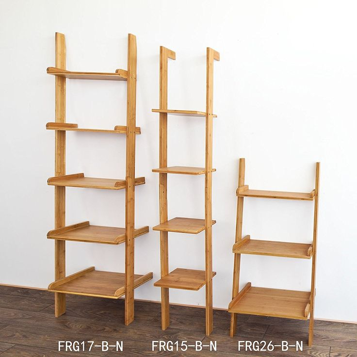 Haotian Modern ladder bookcase made of wood