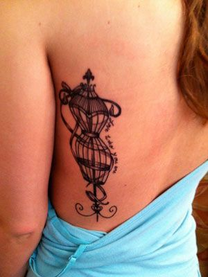 vintage tattoos | Pretty Tattoo Pictures - Vintage Dress Form Tattoos
