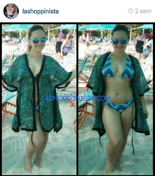 Outfit Shoppinista de DDs Discount de Kissimmee Florida. Traje de baño $6.99 y poncho $5.99 #Swimsuit #Chevron #ANIMALPRINT