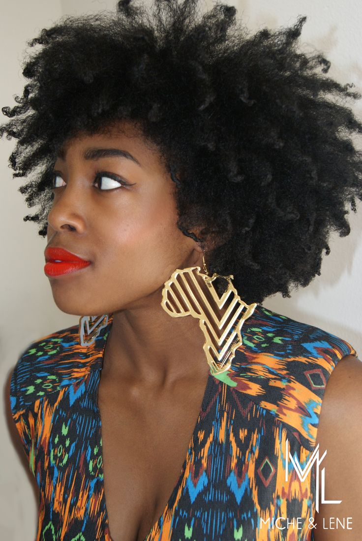 Mama Africa Earrings micheandlene.com Kinky,Curly,Relaxed,Extensions Board