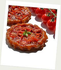 Tartelettes tatin à la tomate cerise et au caramel balsamique
