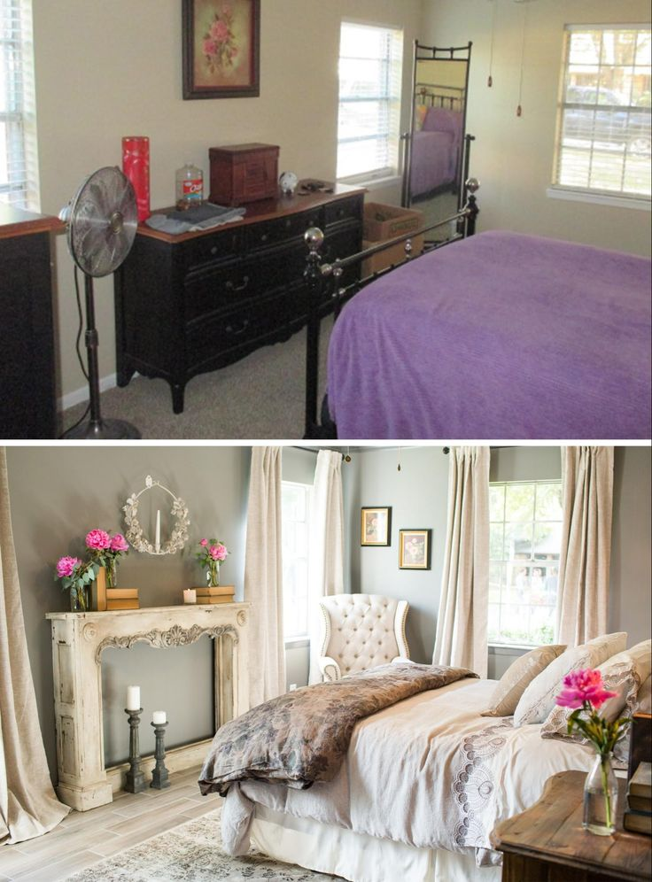 Fixer Upper master bedroom. Love the colors and style.