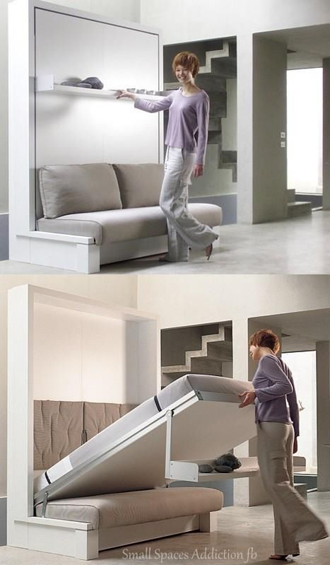Seating by day ~ bed by night ~ unique design