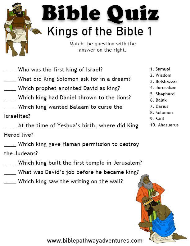 BIBLE TRIVIA QUESTIONS - King James Bible