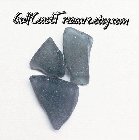 Grey Sea Glass ~ Supply Lot ~ Rare SeaGlass lot mermaid supplies for Beach DIY Jeweler ~ Grey Beach Glass for Collectors